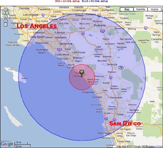 Earthquake San Diego >> Emergency Plan | San Onofre Safety
