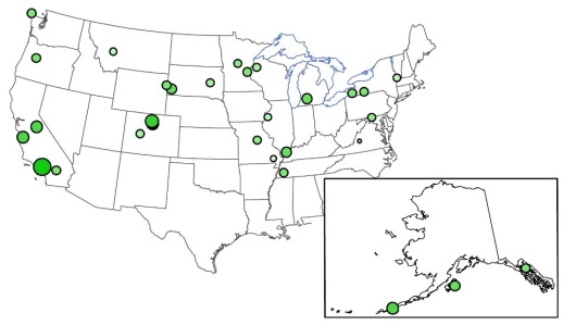 Fukushima USA Cesium-137 Fallout Map 2011 NADP