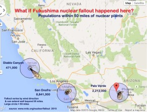 What if Fukushima Happened Here Map