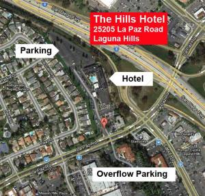 Hills Hotel map and parking