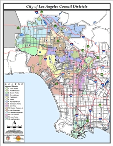 LA Council Districts Map