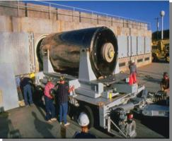 San Onofre Dry Cask Storage System Canister loading into storage bunker